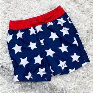 Carter's American Swimsuit Blue Stars Swim Trunks